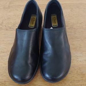 Clarks Leather Slip-Ons
